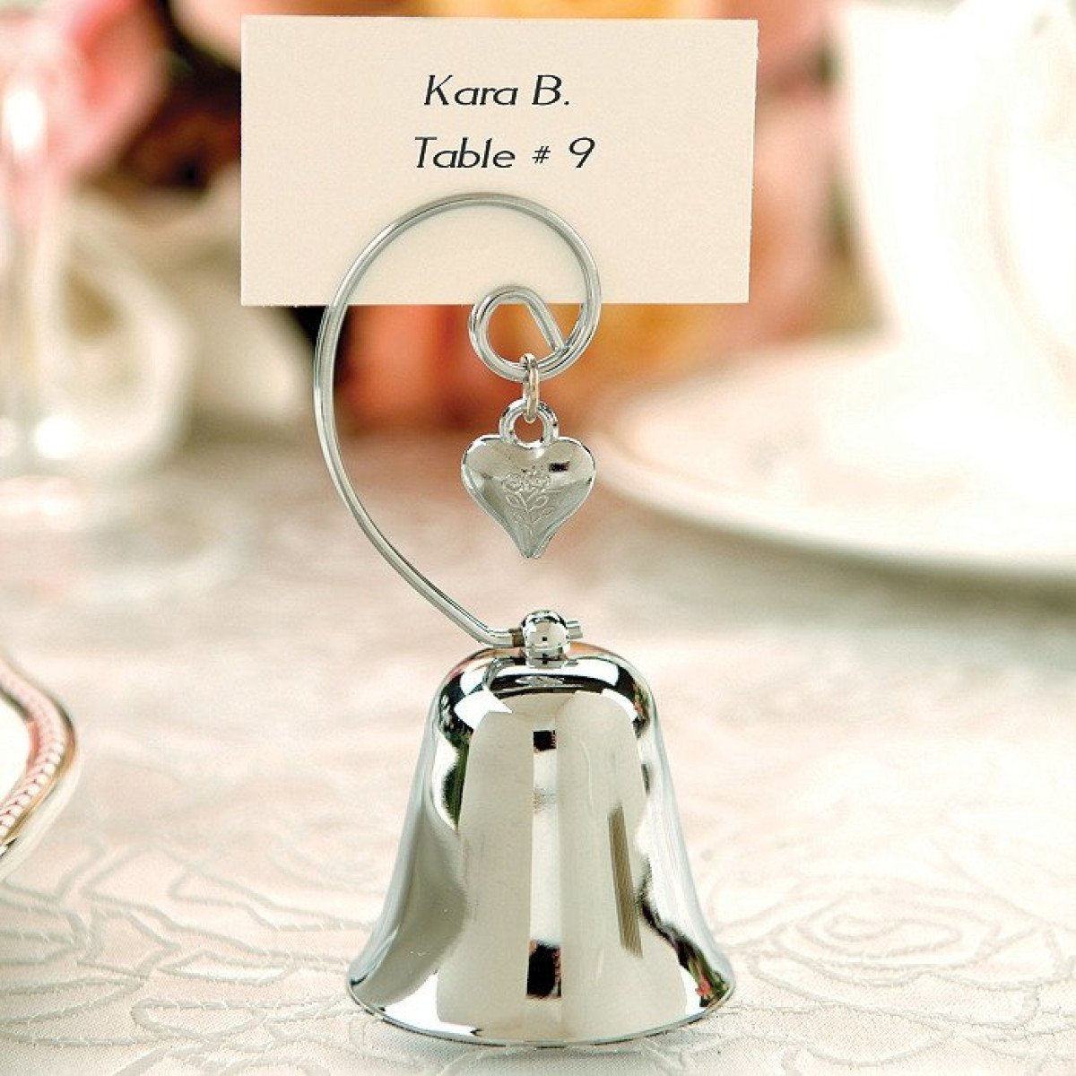 Silver Bell Place Card Holder