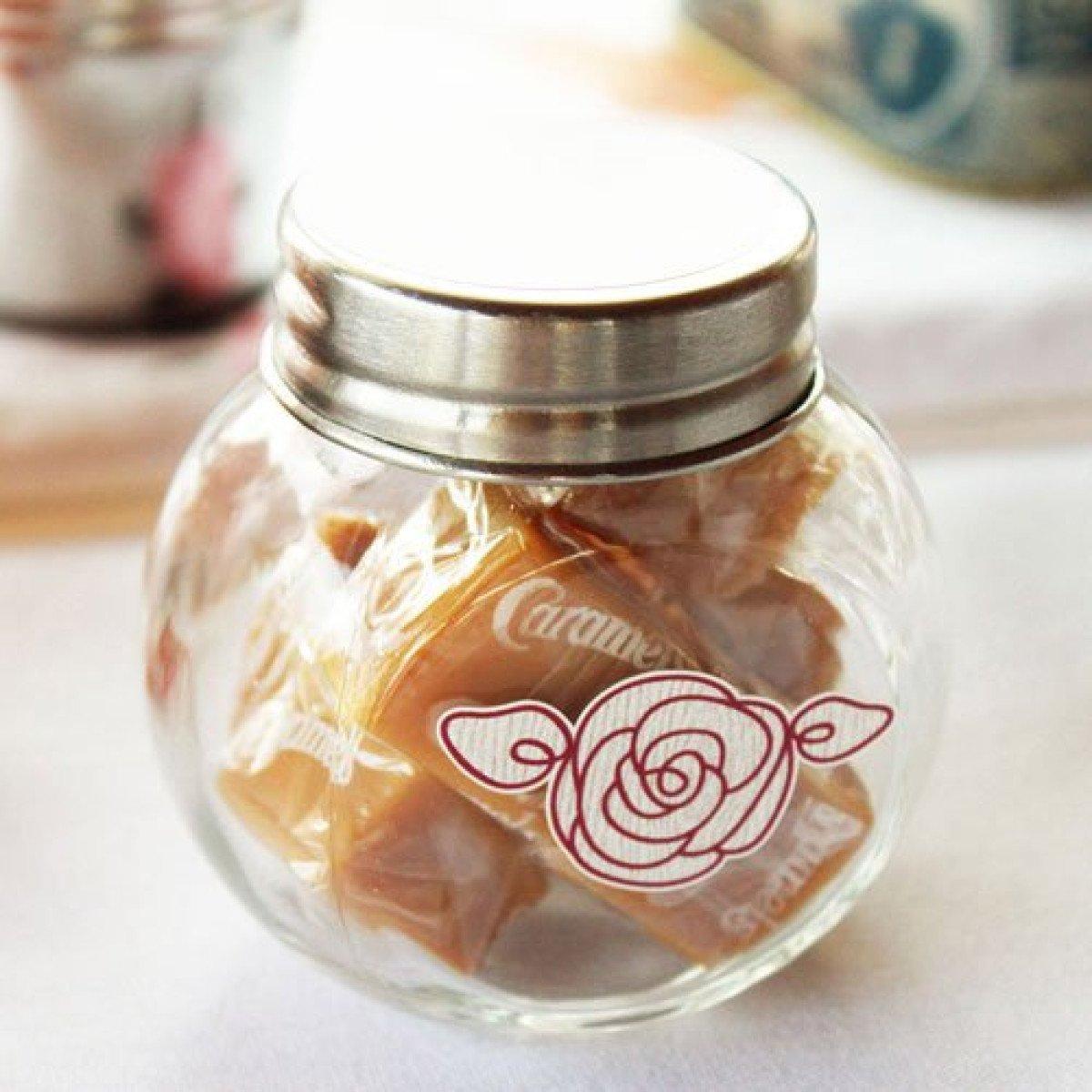 mini glass candy jars