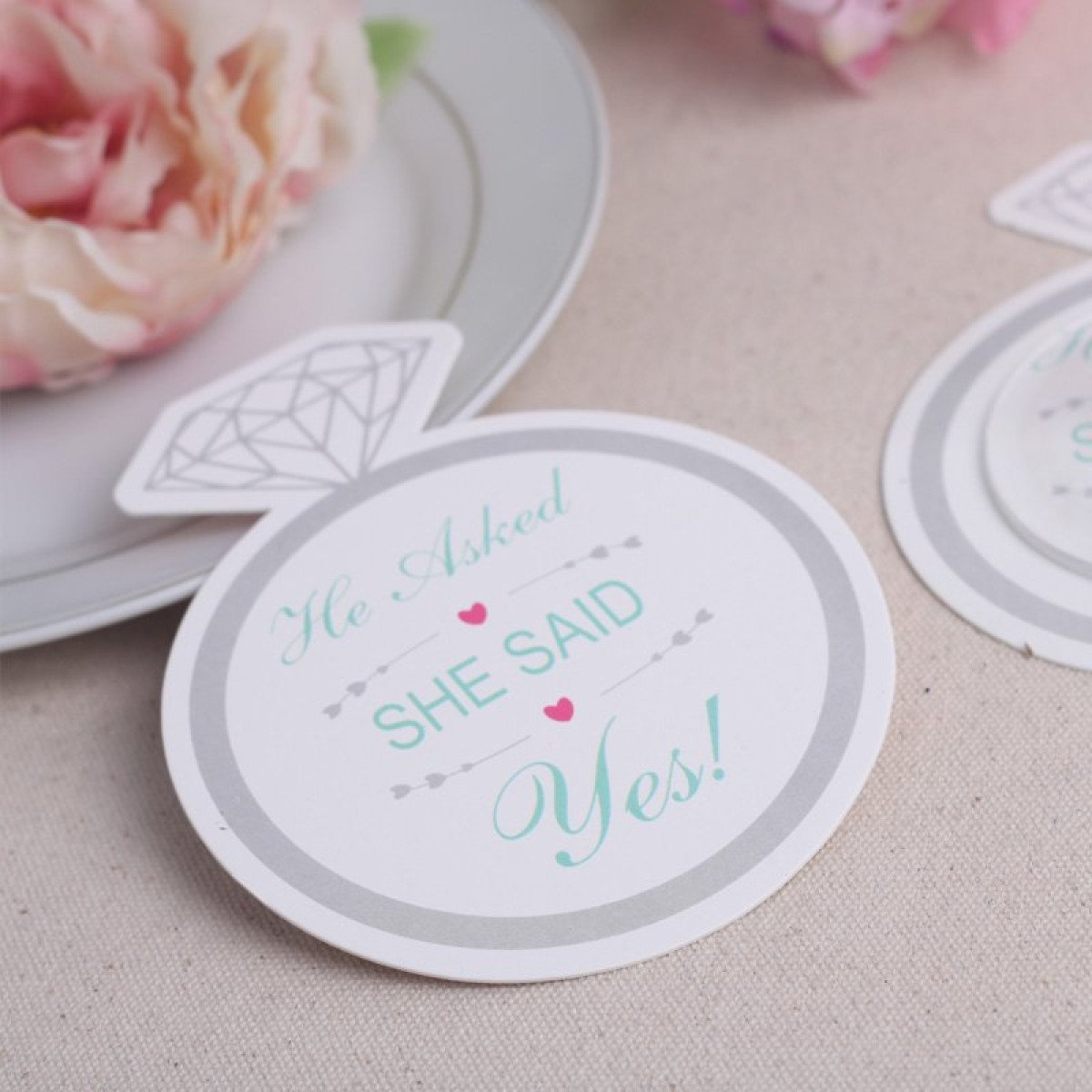 Yes! Paper Coasters - set of 12