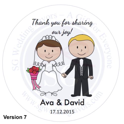 a1232006c8e2 Bride   Groom Tags Stickers