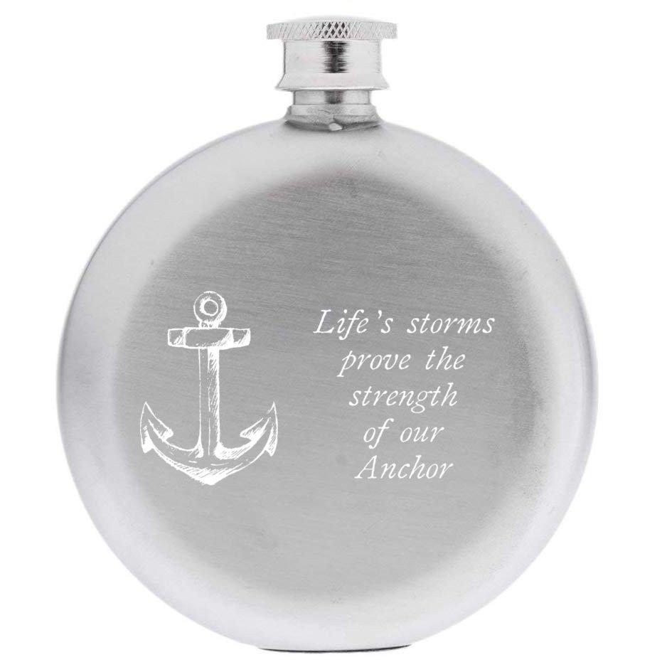 Anchor Round Hip Flask
