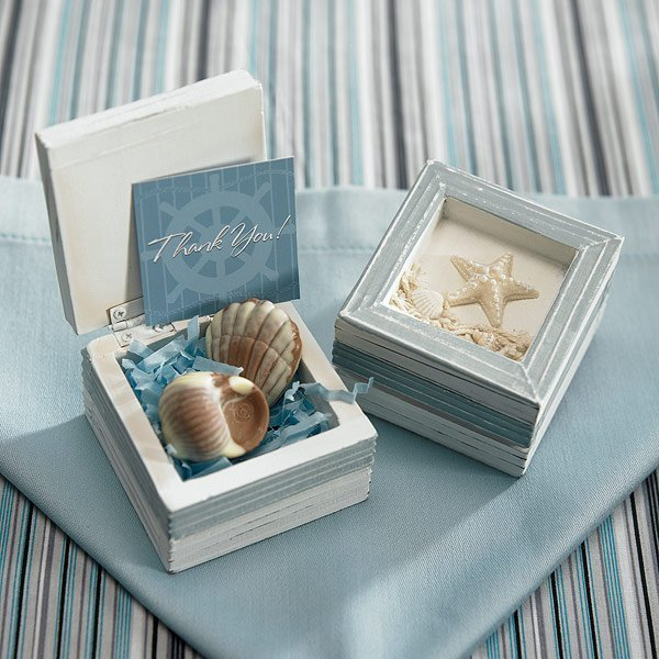 Beach Theme Wooden Boxes Favors