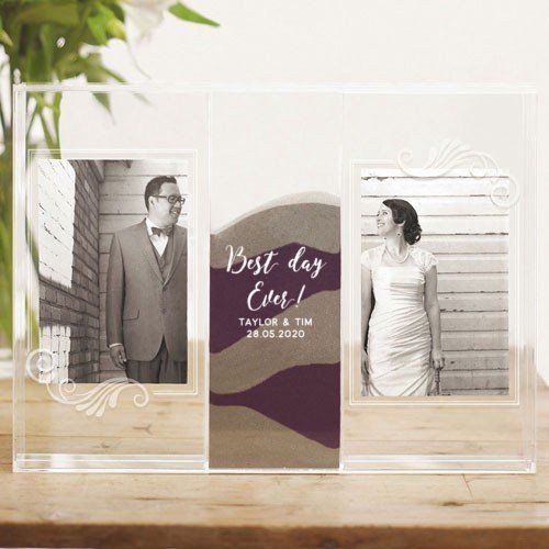 Best Day Clearly Love Sand Ceremony Frame