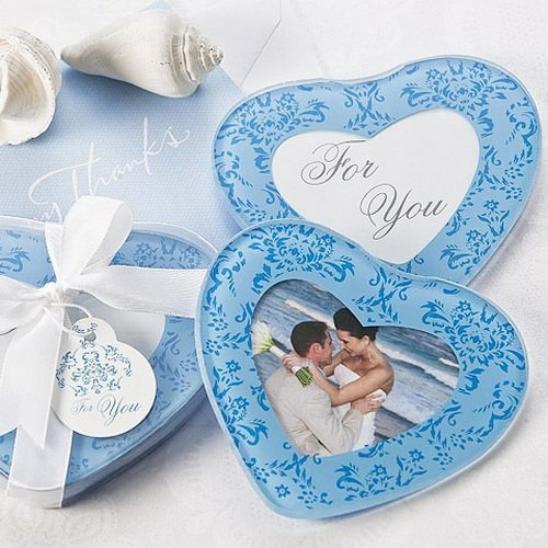 Blue Hearts Coasters Favors
