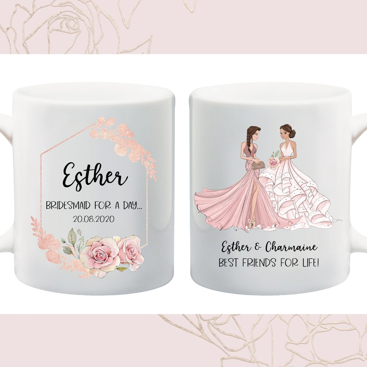 Bridesmaid Floral Mug