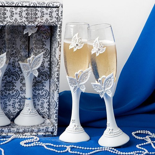 Butterfly Toasting Glass Set