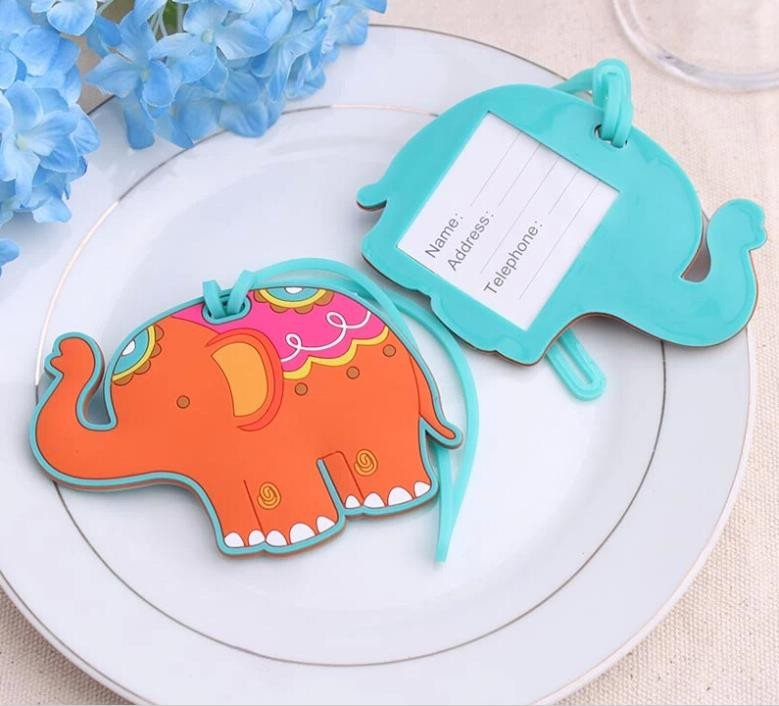 Celebration Elephant Luggage Tags Favors
