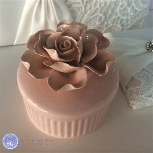 Ceramic Rose Jewellery Box