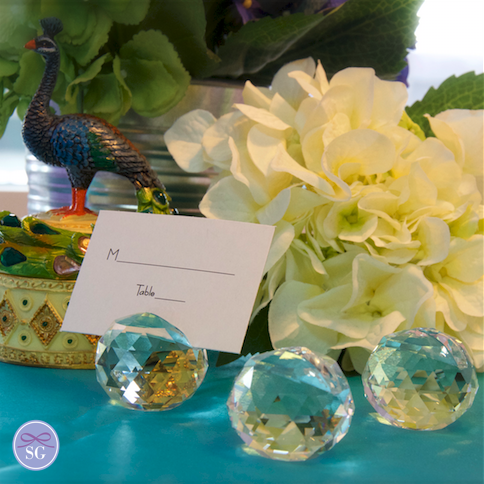 Crystal Ball Name Card Holders