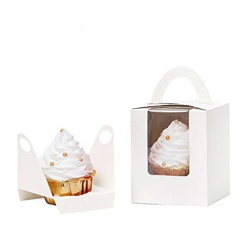 Cupcake Box with Handle - White