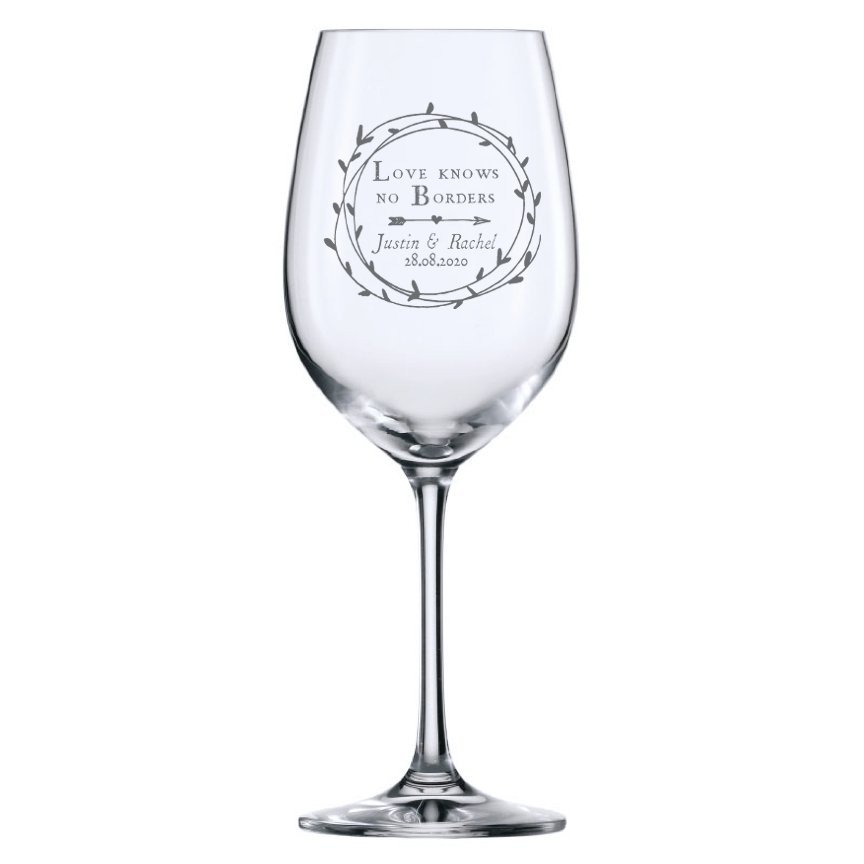 Cupid's Wreath Wine Glass