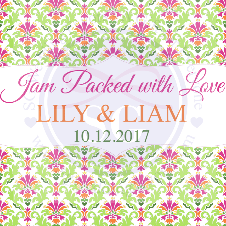 Damask Colors Tags/Stickers for Favors