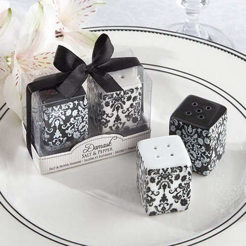 Damask Salt & Pepper Shakers Favors