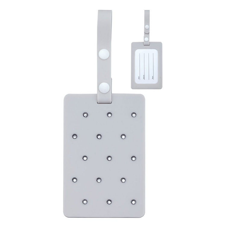 DSE Luggage Tag with Swarovski Elements - Grey