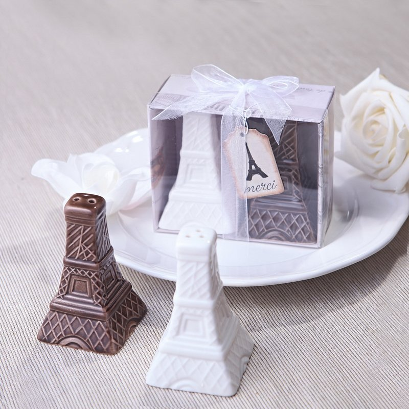 Eiffel Tower Salt & Pepper Shakers Favors
