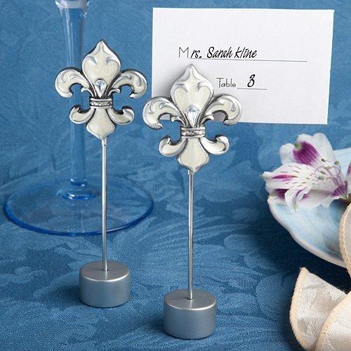 Fleur De Lis Place Card Holder Favors
