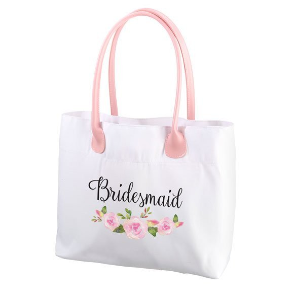 Floral Bridesmaid Tote Bag