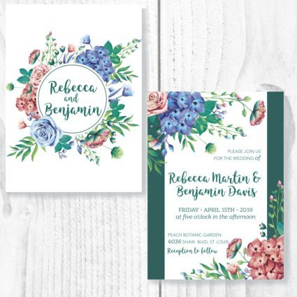 Floral Charm Invite