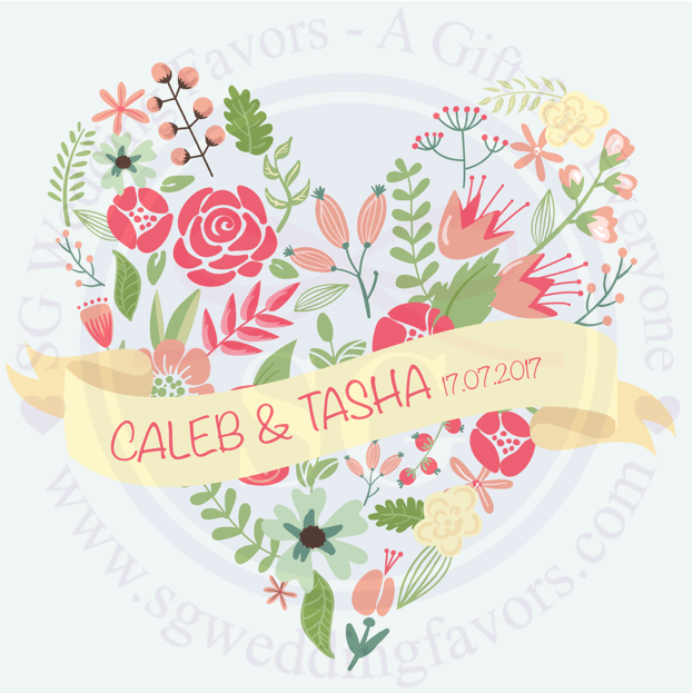 Floral Heart Tags/Stickers