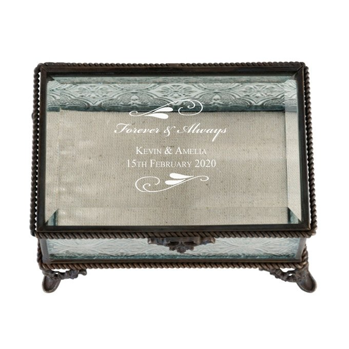 Flourish Rustic Glass Ring Box
