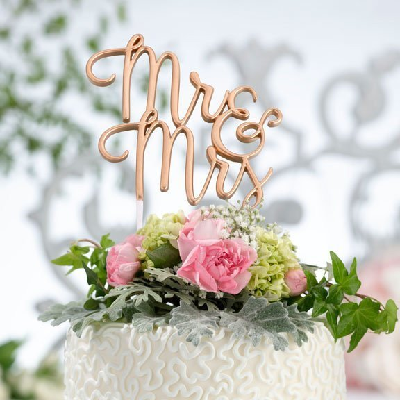 Gold Mr & Mrs Cake Topper