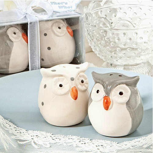 Gray Owl Salt and Pepper Shakers