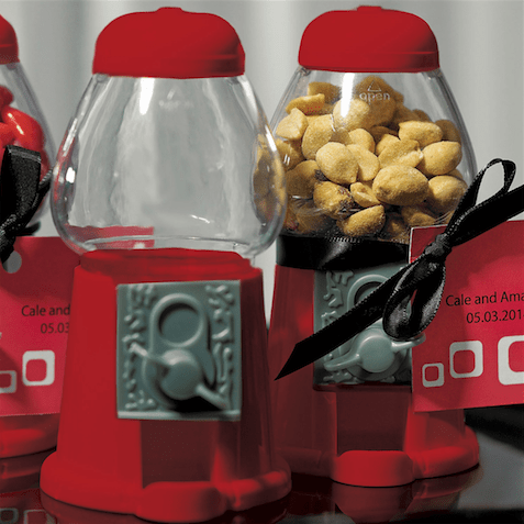 Mini Gumball Machines - Red Favors