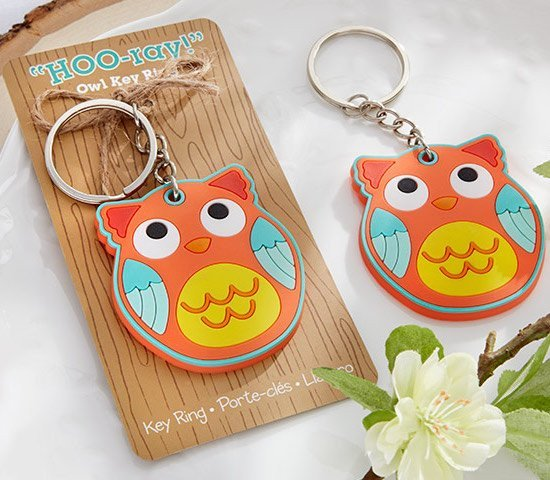 Hoo-ray! Owl Key Rings Favors