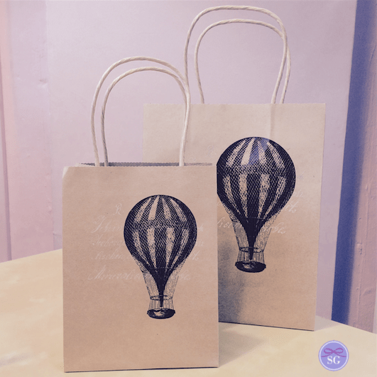 Hot Air Balloon Themed Gift Bags - Small