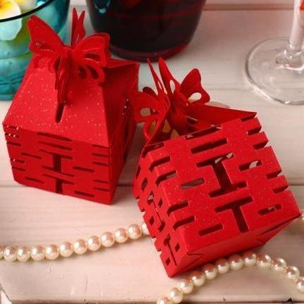 Red Double Happiness Favor Box