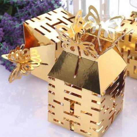 Gold Double Happiness Favor Box