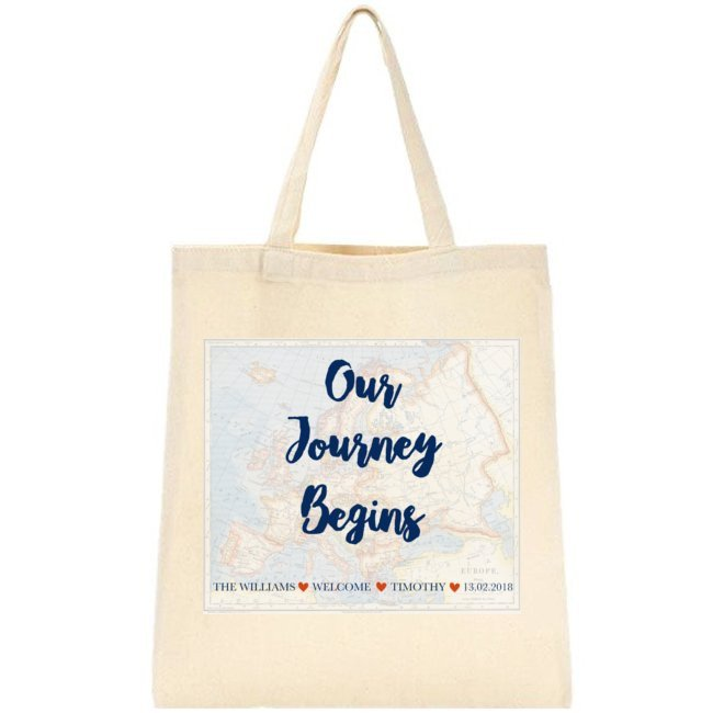 Our Journey Begins Tote Bag