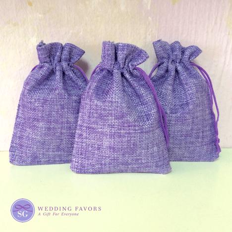Jute Bags - Lavender