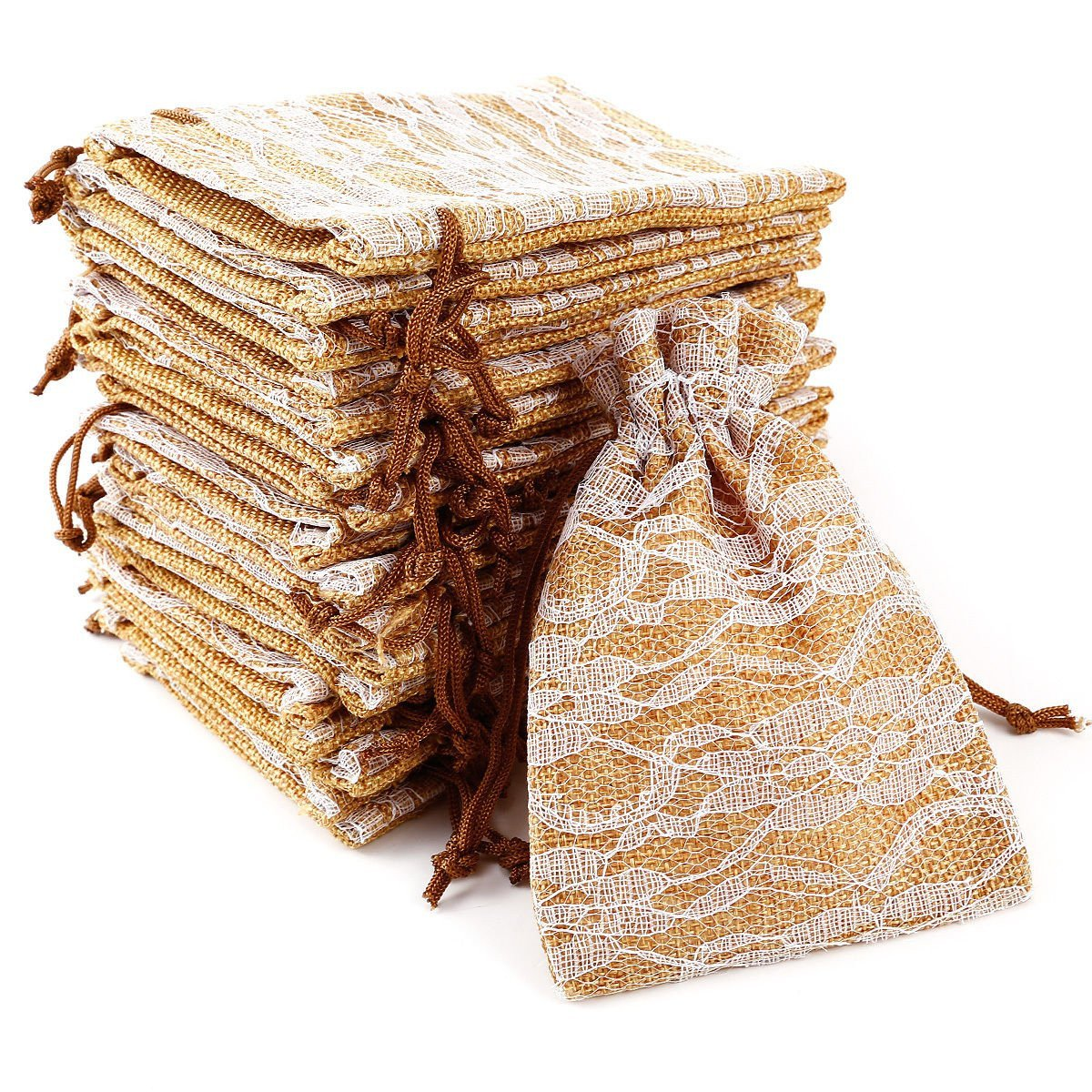 Jute Bags with Lace