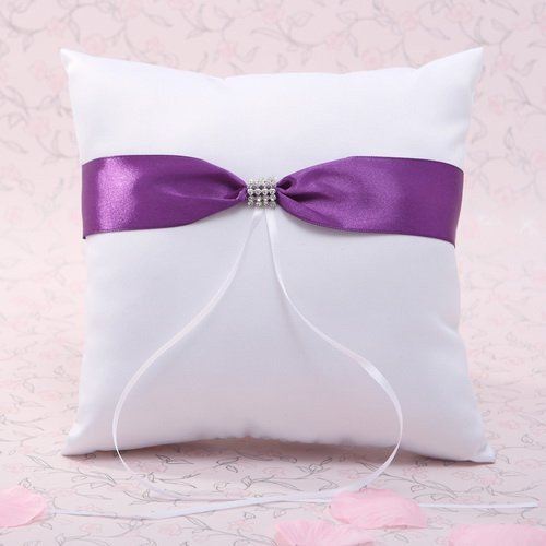 Lavender Sash Ring Pillow