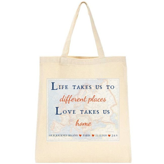 Life Love Travel Forever Tote Bag