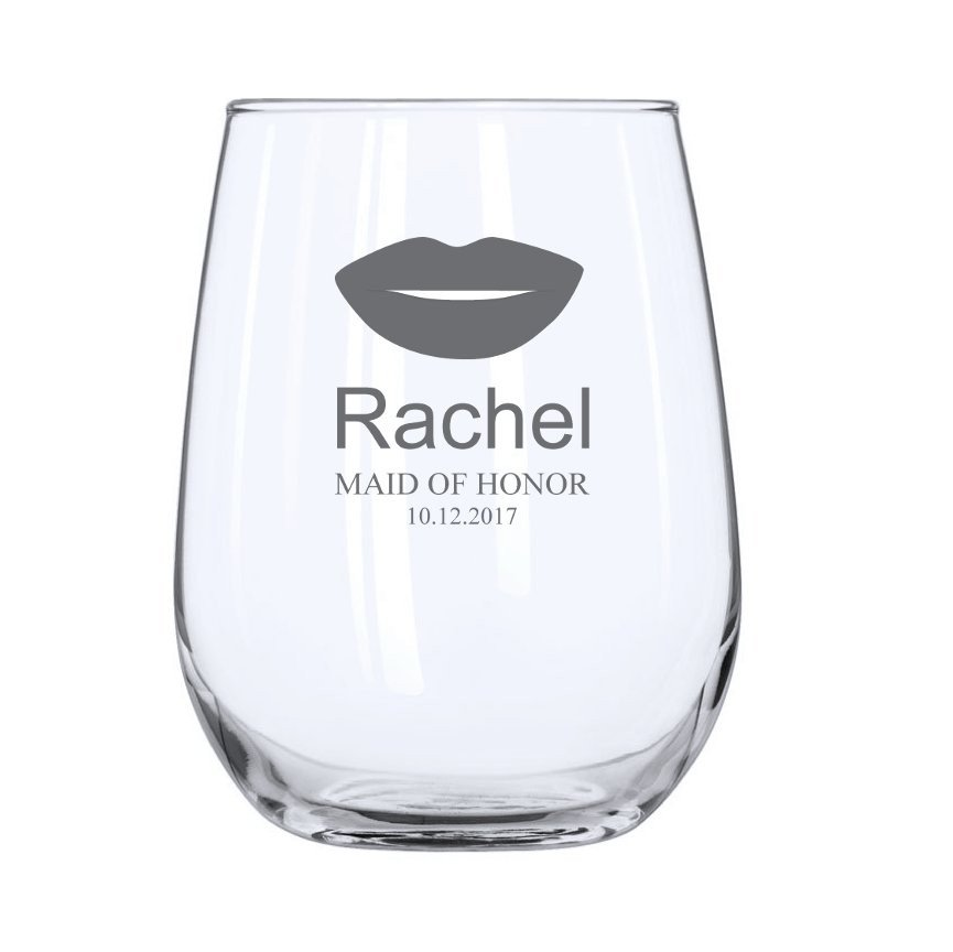 Lips Stemless Wine Glass