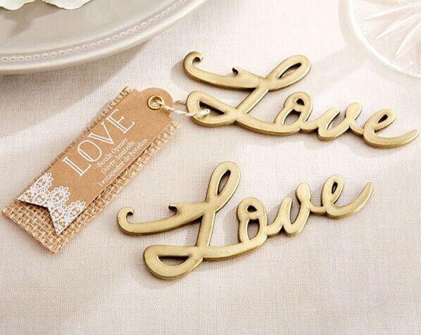 Love Bottle Openers - Gold
