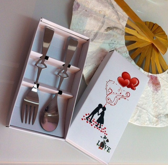 LOVE Fork and Spoon Set Favors