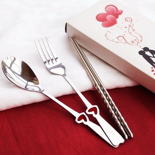 LOVE Fork, Spoon & Chopsticks Set