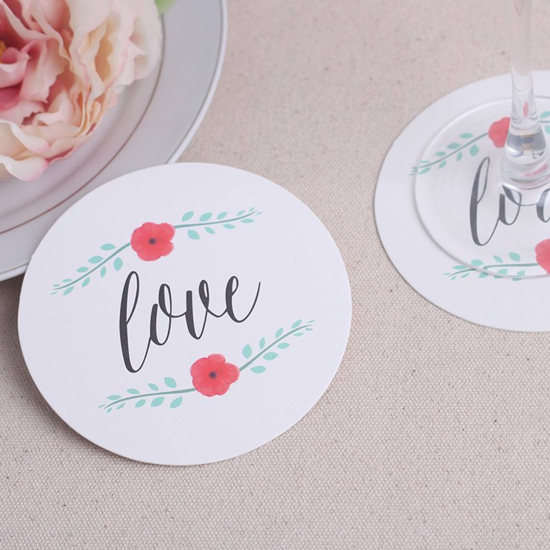 Love Paper Coasters - set of 12