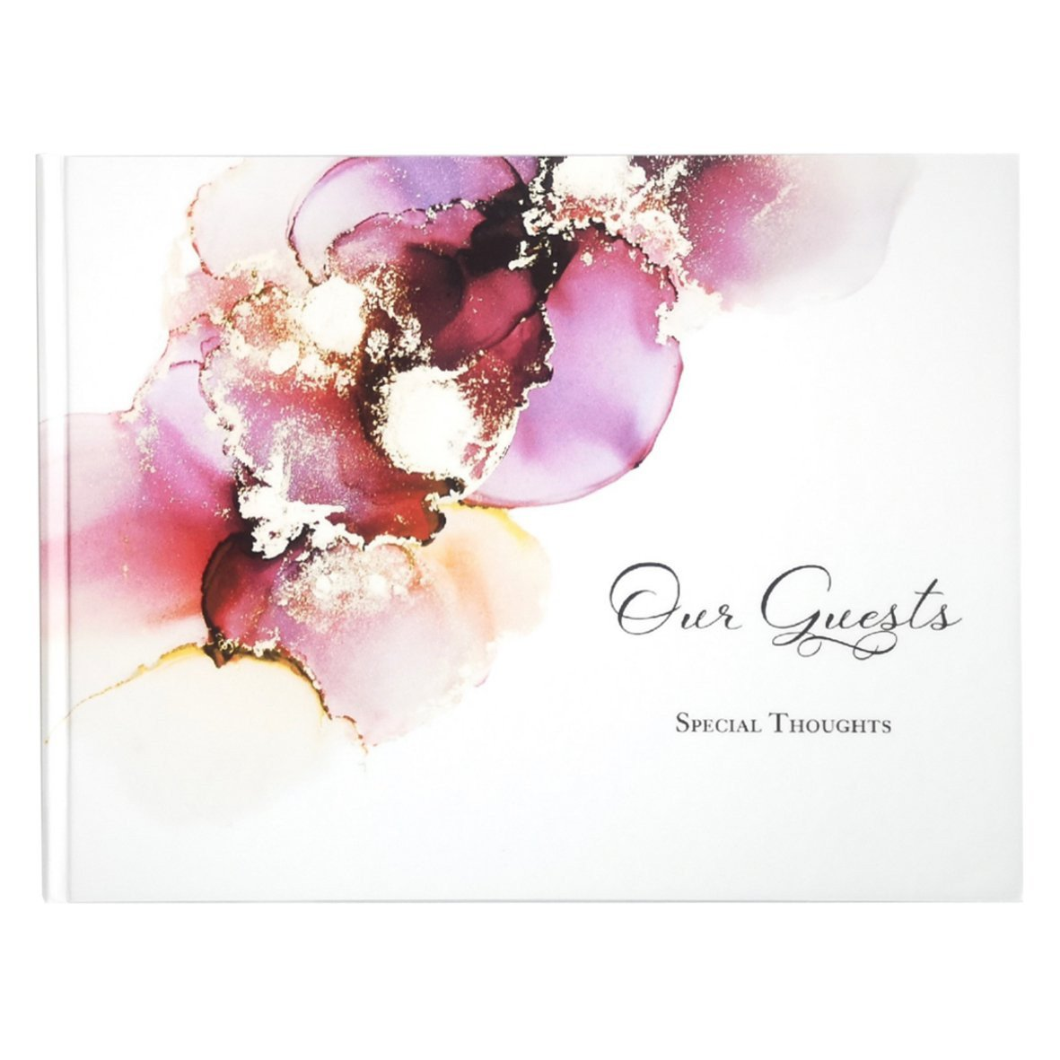 Magenta Gold Guest Book