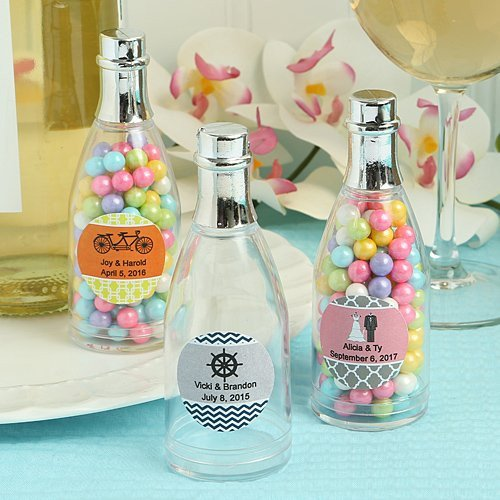 Mini Champagne Bottle Candy Boxes