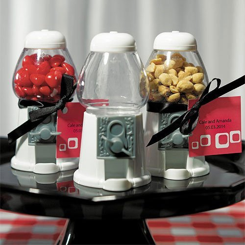 Mini Gumball Machines - White Favors