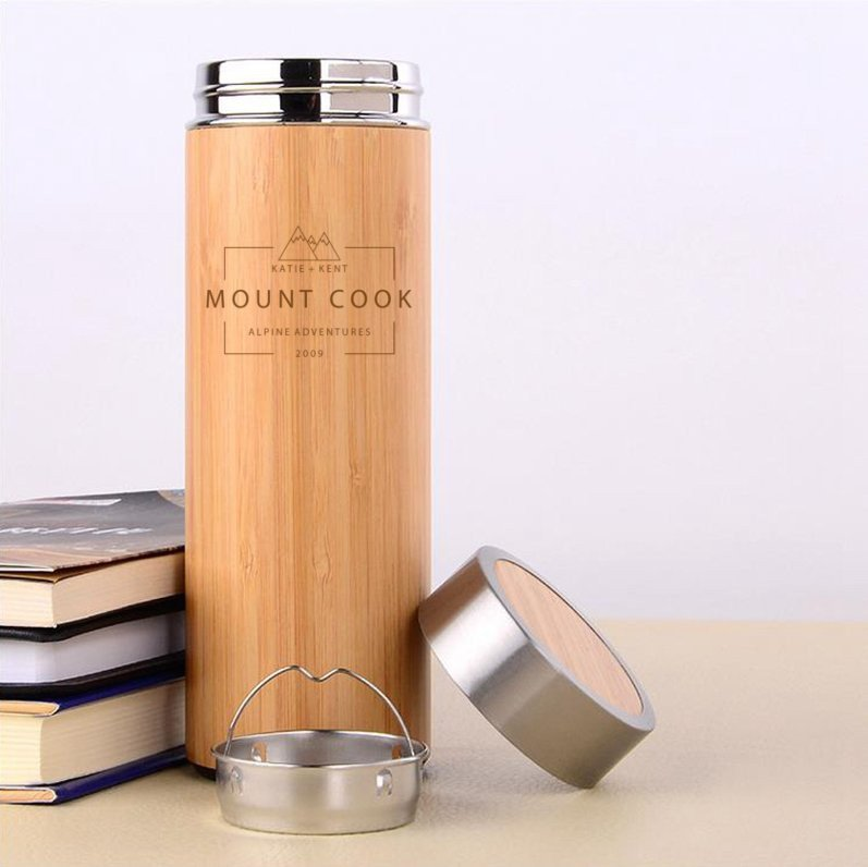 Adventure Wooden Flask