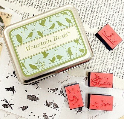 Mountain Birds Rubber Stamps