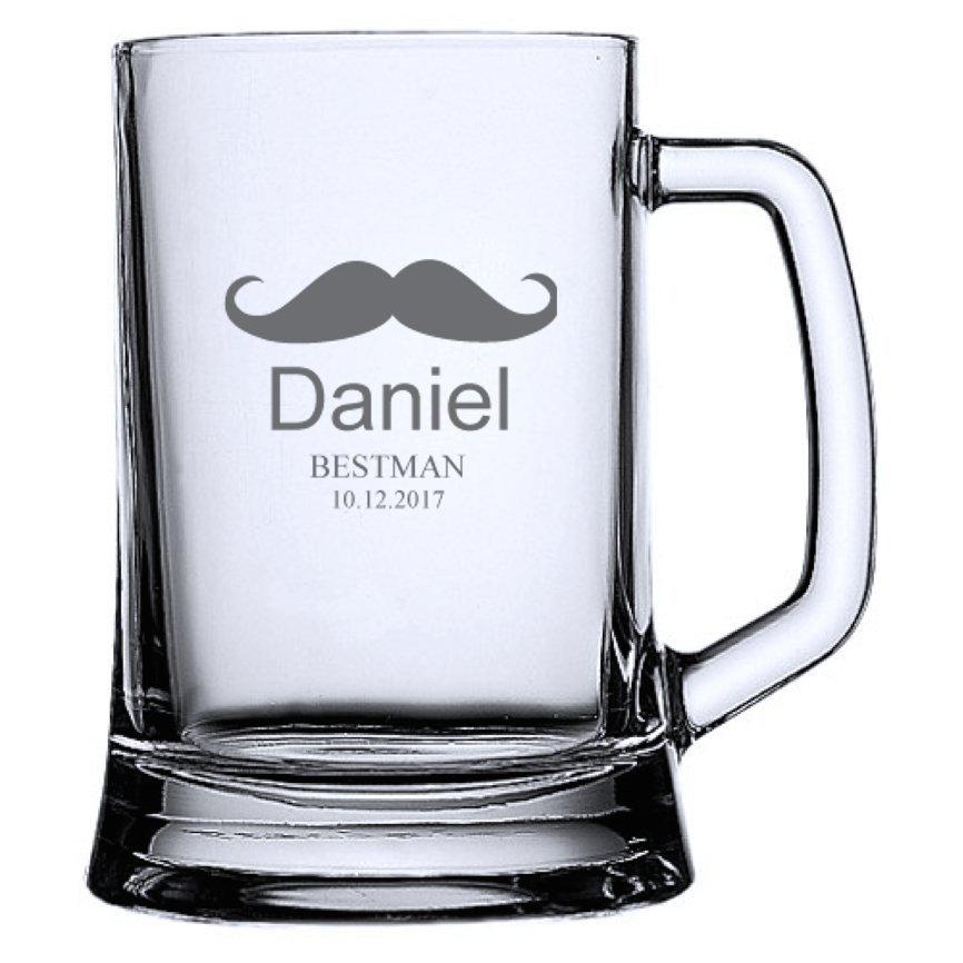 Mustache Beer Mug