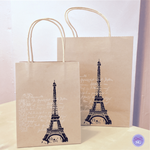 Paris Themed Gift Bags