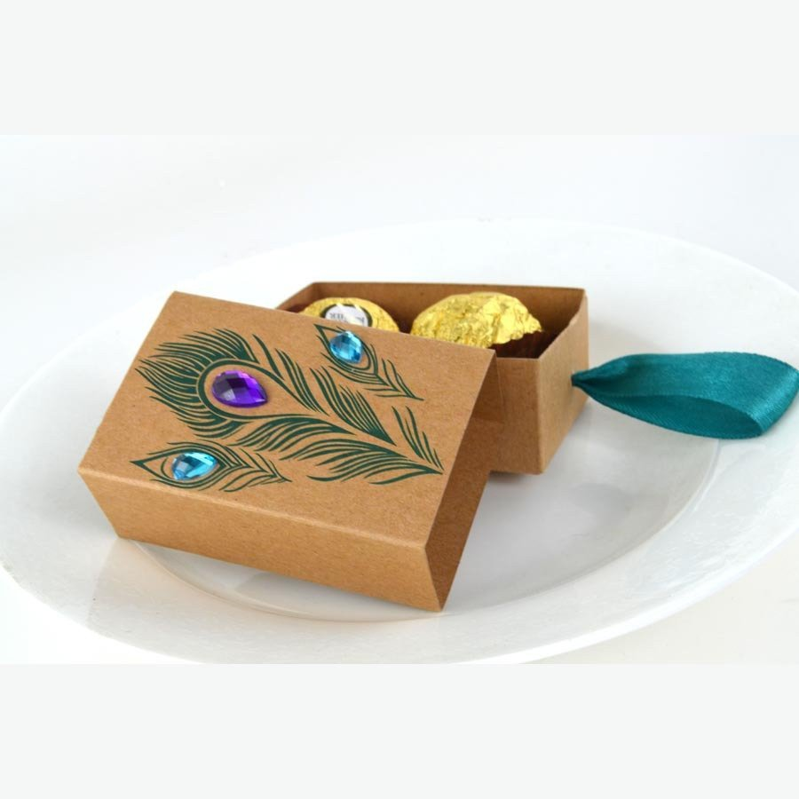 Peacock DIY Favor Boxes