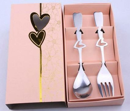 Pink Fork and Spoon Set Favors
